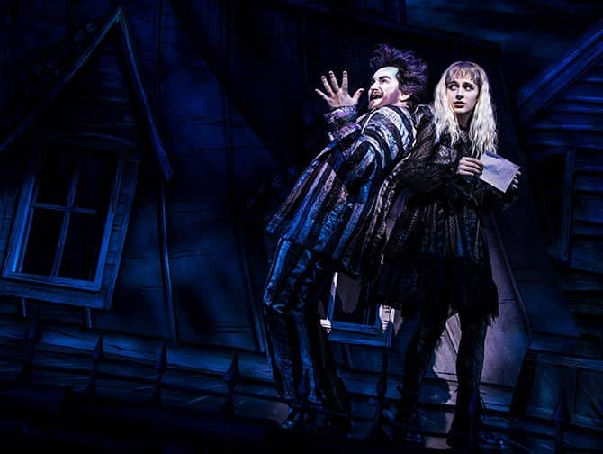 Beetlejuice Broadway billetter - Beetlejuice og Lydia