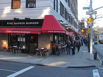 Hell's Kitchen i New York - Five Napkin Burger