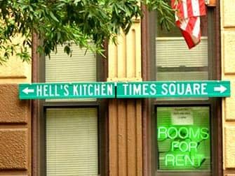 Hell's Kitchen i New York - Skilt