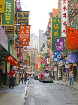 Chinatown i New York - Kinesiske skilte