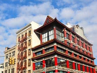 Chinatown i New York - Typiske bygninger