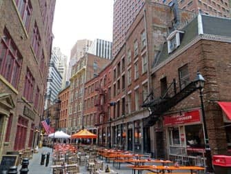 Lower Manhattan og Financial District i New York - Stone Street