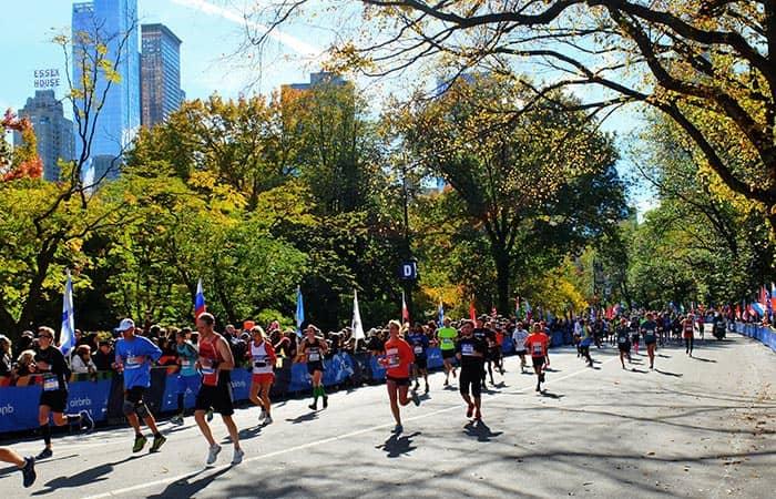 New York Marathon - Løbere i Central Park