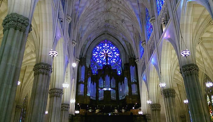 St. Patrick's Cathedral i New York - Indenfor