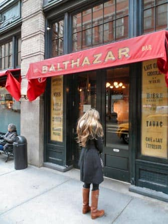 Romantiske restauranter og barer i New York - Balthazar