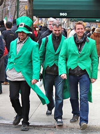 St. Patrick's Day i New York - Klædt i grønt
