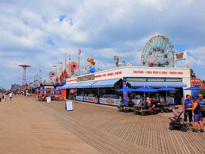 Coney Island i New York - Boardwalk