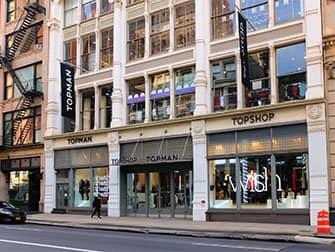 Shopping i SoHo - Topshop