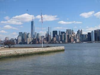 Ellis Island - Udsigt til Manhattan