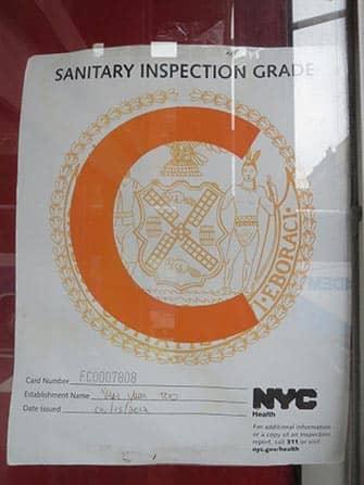Hygiejne på restauranter i New York - C
