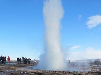 Island stopover på vej til New York - Gejser