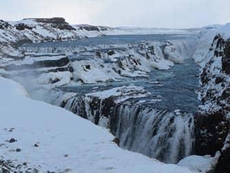 Island stopover på vej til New York - Vandfald